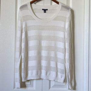 Tommy Hilfiger Pullover Bright White Knit Sweater